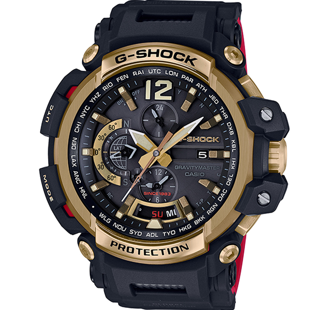 G-SHOCK 35周年2波紀念GPS電波飛行錶(GPW-2000TFB)-黑/57mm