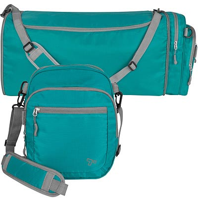 TRAVELON 2in1輕羽行李袋(藍)