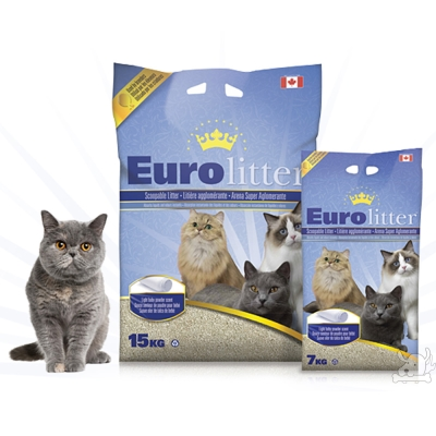 Euro litter歐洲皇家之冠 頂級原礦貓砂 7kg X 2包