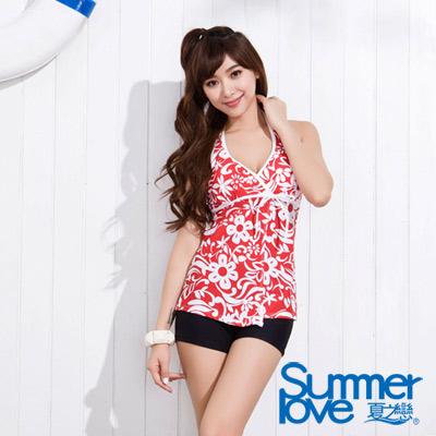 夏之戀SUMMERLOVE 鮮紅長版二件式泳衣