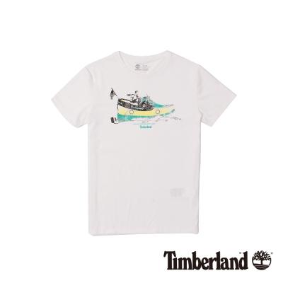 Timberland 男款白色戶外Coolmax速乾短袖T恤