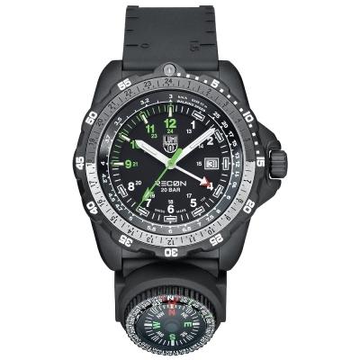 LUMINOX 特殊偵察RECON系列藍寶鏡面指南針腕錶--黑x白時標/46mm