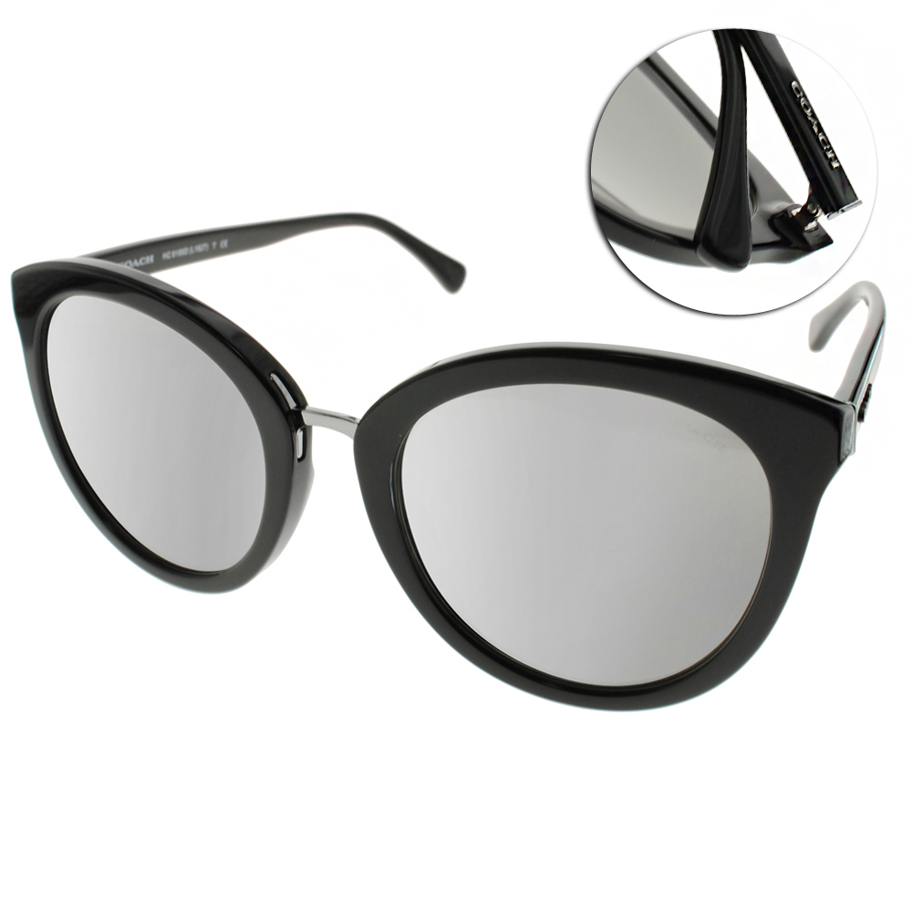 COACH太陽眼鏡 歐美貓眼/黑#COS8199D 50346G