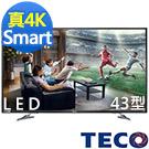 TECO東元 43吋 真4K Smart 液晶顯示器+視訊盒 TL43U1TRE