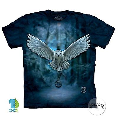 摩達客 美國進口The Mountain 喚之貓頭鷹 純棉環保短袖T恤