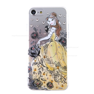Disney迪士尼iPhone 7(4.7吋)施華洛世奇水鑽透明雙料保護殼-漫畫...