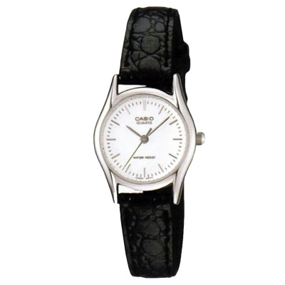 CASIO 經典指針淑女皮帶錶(LTP-1094E-7A)-白/28mm
