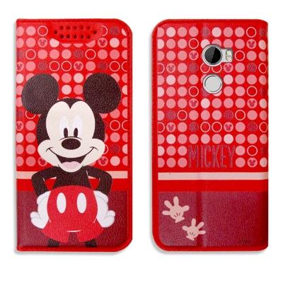 迪士尼正版授權 HTC One X10 普普風彩繪手機皮套(米奇)
