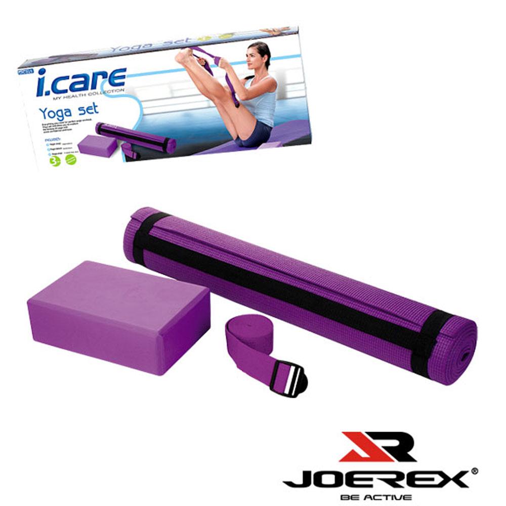 【JOEREX】艾可兒瑜珈墊套裝組/瑜珈用品-JIC025