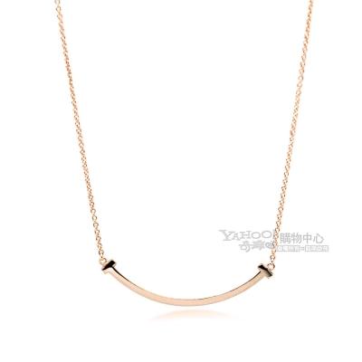 Tiffany&Co. T系列 18K玫瑰金 Smile微笑項鍊(小)