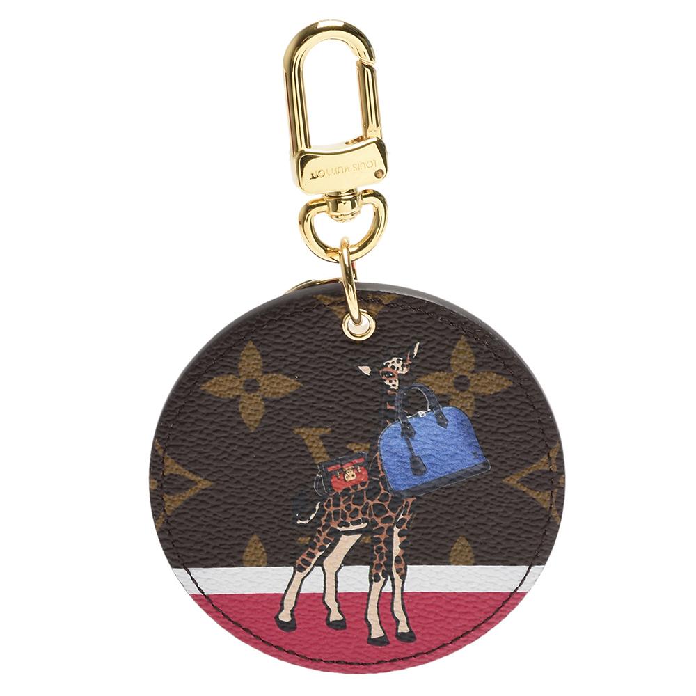 LV M62752 Illustr? Girafe長頸鹿和品牌手袋圖騰吊飾/鑰匙圈