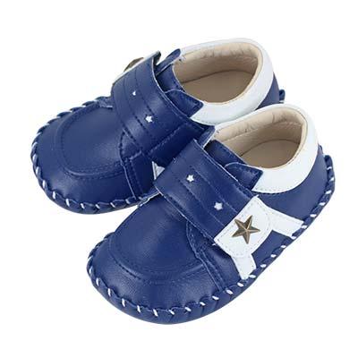 Swan天鵝童鞋-雙色星星休閒學步鞋 1560 -藍
