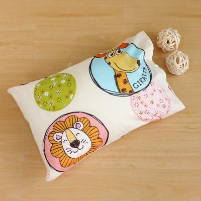 鴻宇HongYew 美國棉防蹣抗菌 歡樂動物園-兒童透氣多孔纖維枕