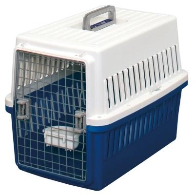 日本IRIS 寵物航空運輸籠 白+青(IR-ATC-670-6)