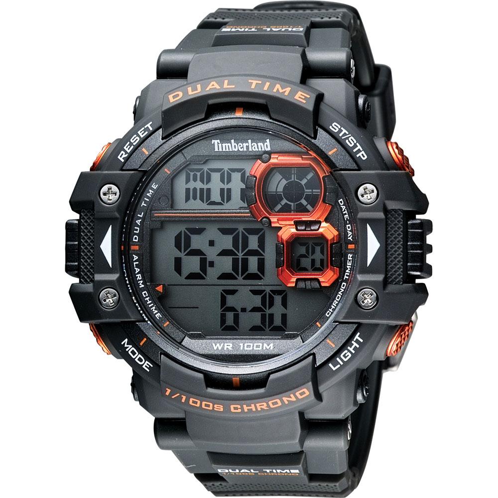 Timberland TUXBURY系列多功能數位腕錶-黑52.5mm
