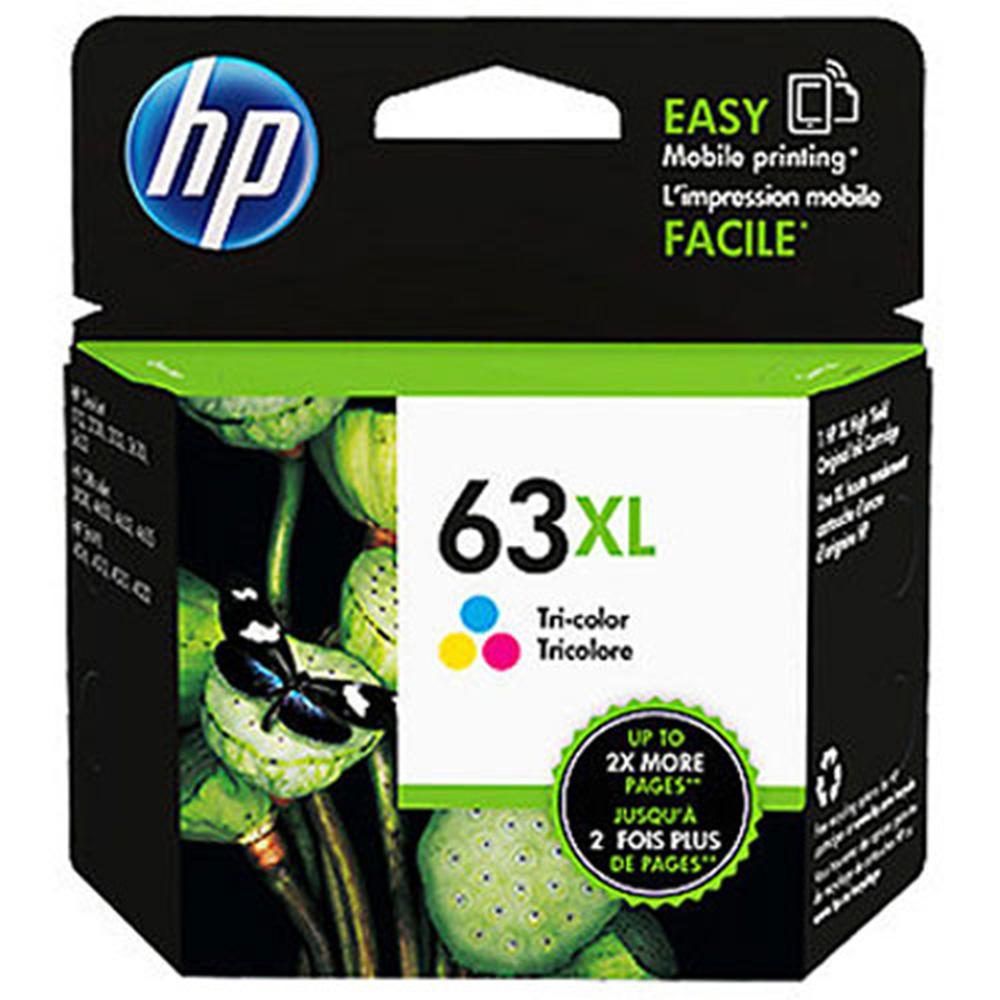 HP F6U63AA (63XL) 三色高容量原廠墨水匣