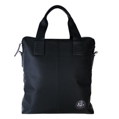 Sina Cova 老船長牛皮提花側背手提包-質感黑(SC61603)