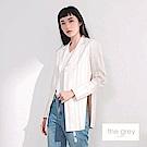吳日云- 直條紋西裝外套白色