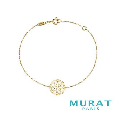 MURAT Paris米哈巴黎 9K金系列 典雅鏤空花形手鍊