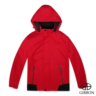 GIBBON 防風防水刷毛機能外套‧紅色