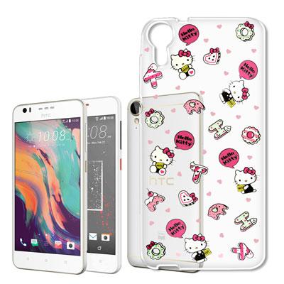 Hello Kitty HTC 10 Lifestyle 浮雕彩繪透明軟殼(繽紛...