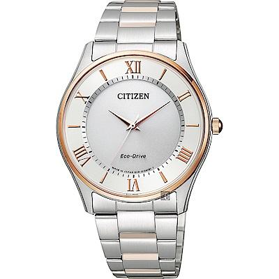 CITIZEN星辰 Eco-Drive光動能手錶-雙色版/37mm
