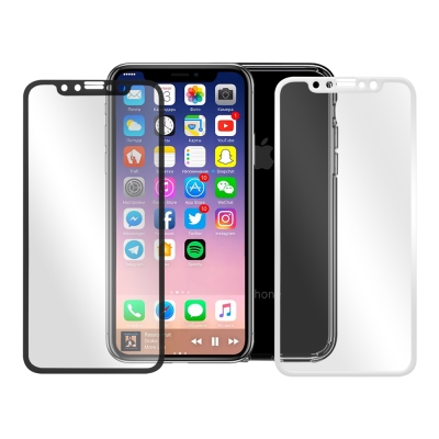 LUCCIDA Apple iPhone X 9H鋼化玻璃貼【3D滿版】