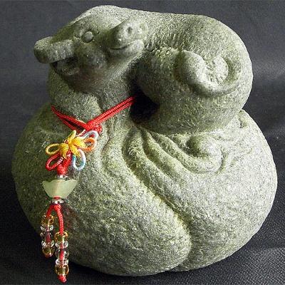 開運陶源  石塑造十二生肖【牛】青斗石*限量888