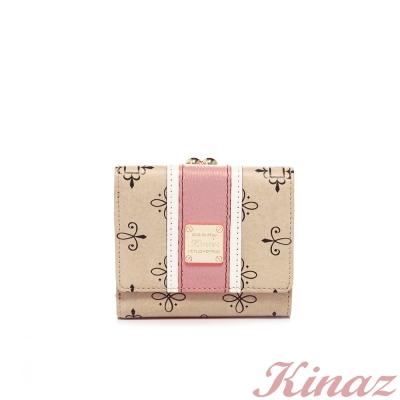 KINAZ-夢幻邂逅短夾-粉紅色沙灘系列-福利品