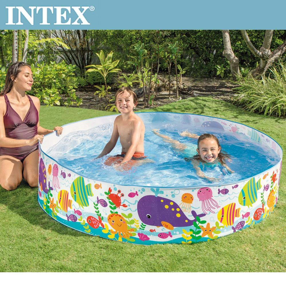 INTEX 免充氣海洋世界幼童戲水游泳池183x38cm(56452N)