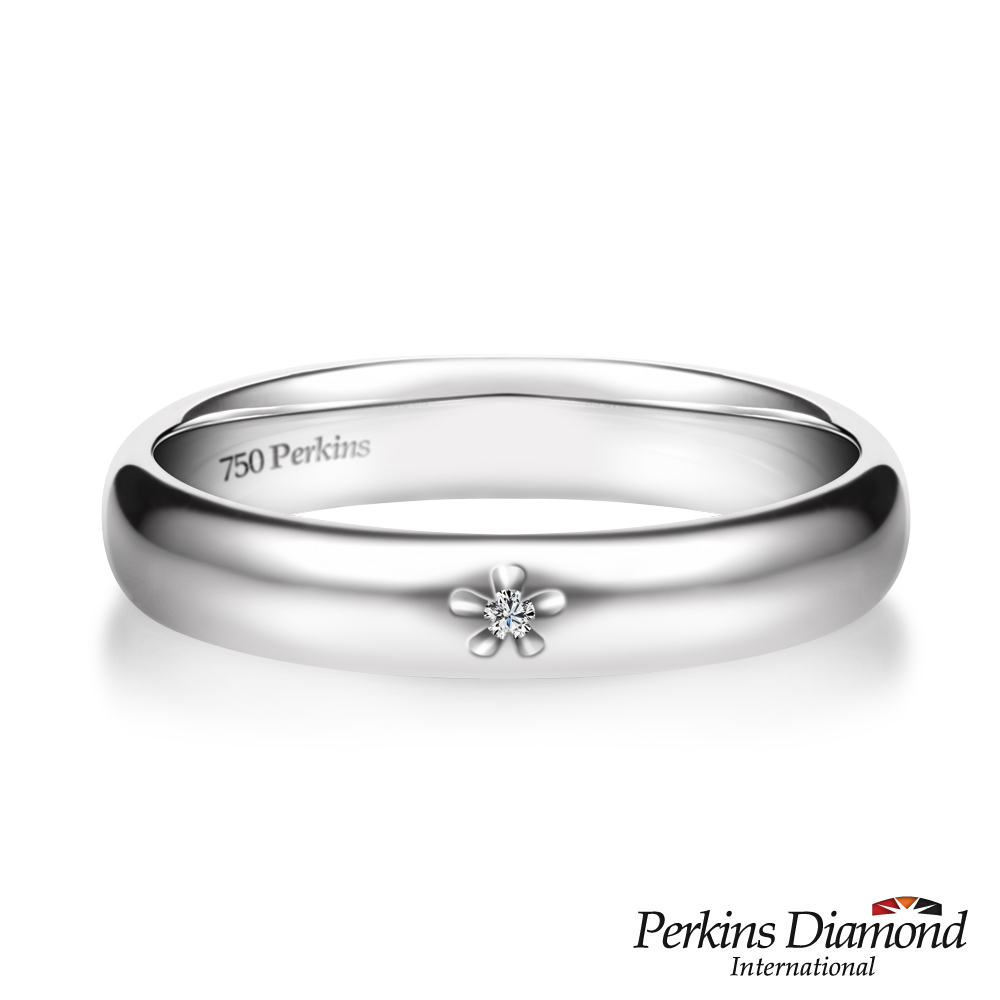 PERKINS 伯金仕 - Classic系列18K白金 鑽石戒指