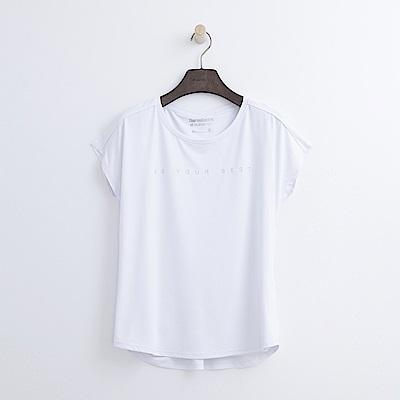 Hang Ten - 女裝 - ThermoContro假兩件機能T恤-白色