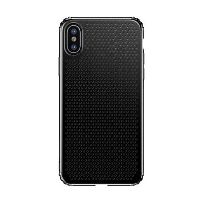 防摔專家 iPhoneX 透氣孔雙材質TPU+PC保護殼(黑)