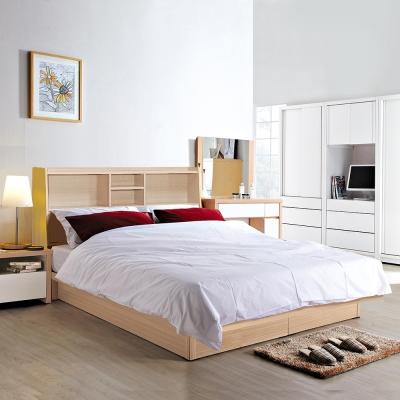 群居空間 北歐雙人橡木5尺(床頭箱+掀床)