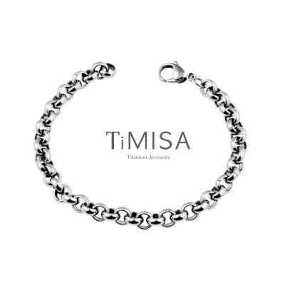 TiMISA《風之戀(M)》純鈦手鍊