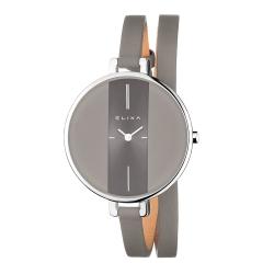 ELIXA 瑞士精品手錶 Finesse精巧時間纏繞系列 灰色38mm