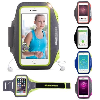 原裝Maleroads 5吋手機 通用型運動臂帶 慢跑 自行車 夜跑 臂包