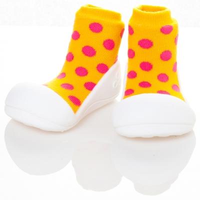 attipas 韓國娃娃鞋正廠品質有保證尺寸齊全AD01-圓點黃