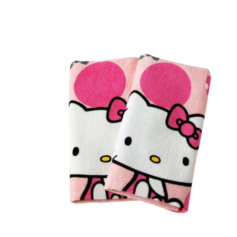 Sanrio三麗鷗授權Hello Kitty凱蒂貓系列-復古紅圓點凱蒂貓童巾(單條)