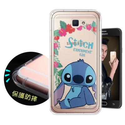 迪士尼正版 Samsung Galaxy J7 Prime花系列 空壓安全手機殼...