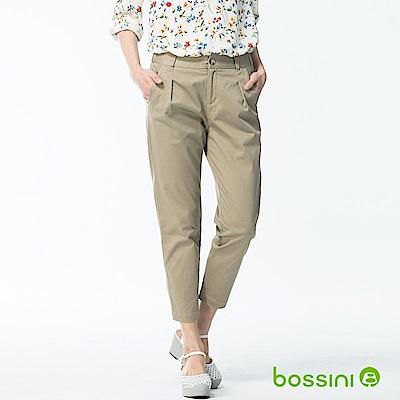 bossini女裝-彈力修身褲01卡其