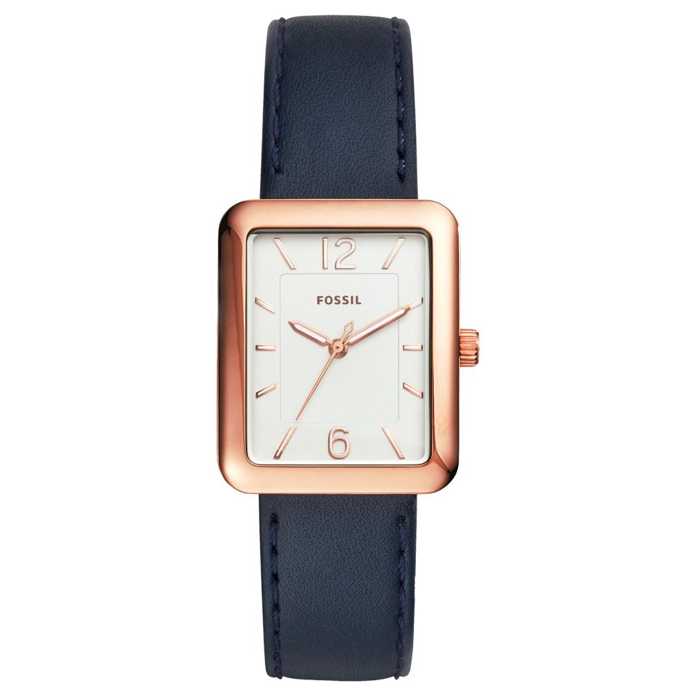 FOSSIL簡約時窗都會腕錶-ES4158 28X34mm