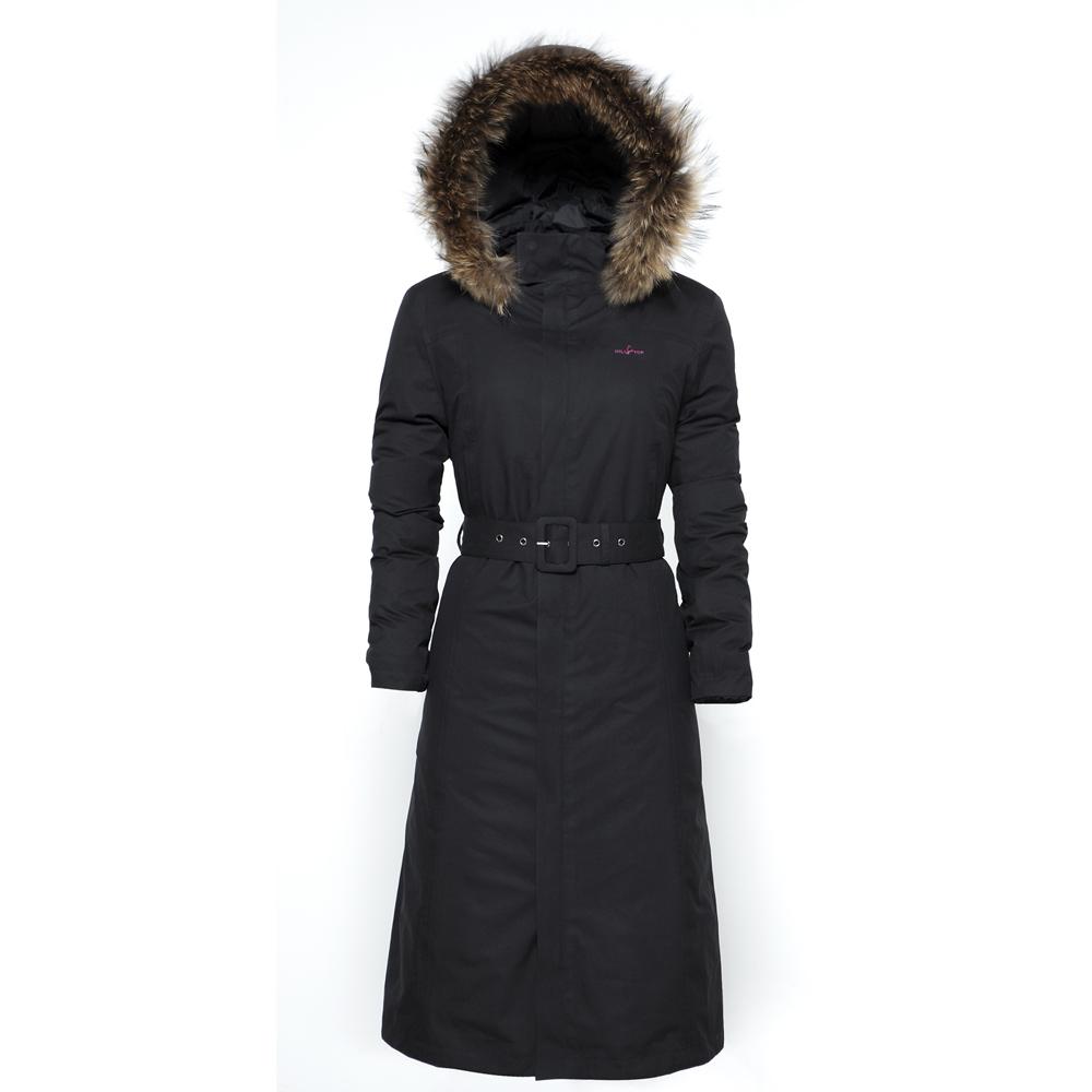 【hilltop山頂鳥】女款GoreTex兩件式防水長大衣F21F51-黑