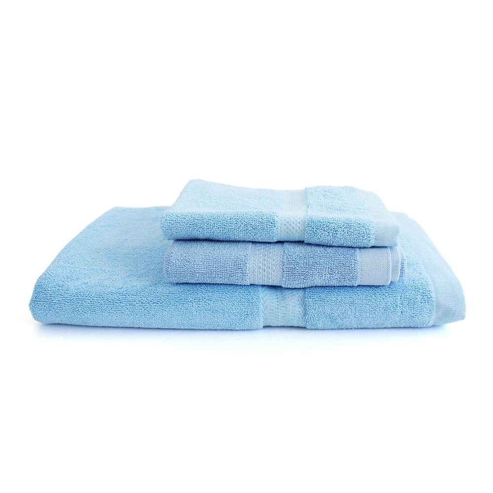 Lovel 嚴選六星級飯店素色純棉浴巾/毛巾/方巾3件組(共5色)