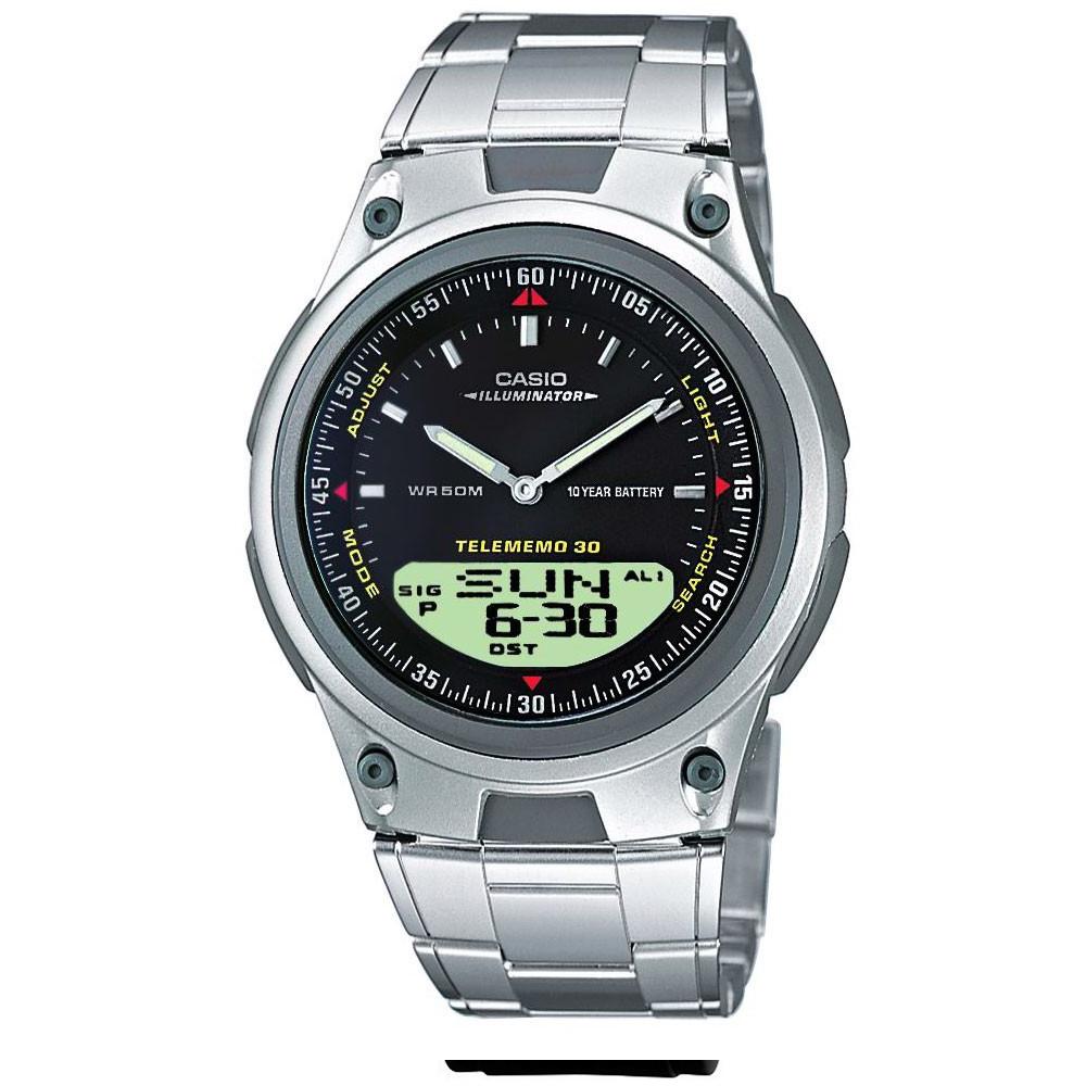 CASIO 多功能狩獵雙顯錶(AW-82D-1A)-黑/40mm