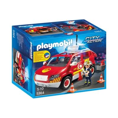 playmobil 救火系列 消防隊警車聲光組