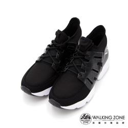 WALKING ZONE 高彈力厚底運動休閒 女鞋-黑