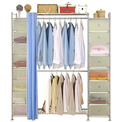 巴塞隆納─W 2 + 2 D型 90 公分衣櫥置物櫃