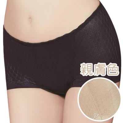 思薇爾 舒曼曲現系列M-XL中腰平口修飾褲(親膚色)