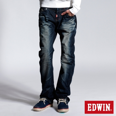 EDWIN江戶勝3D窄直筒牛仔褲-男-原藍磨